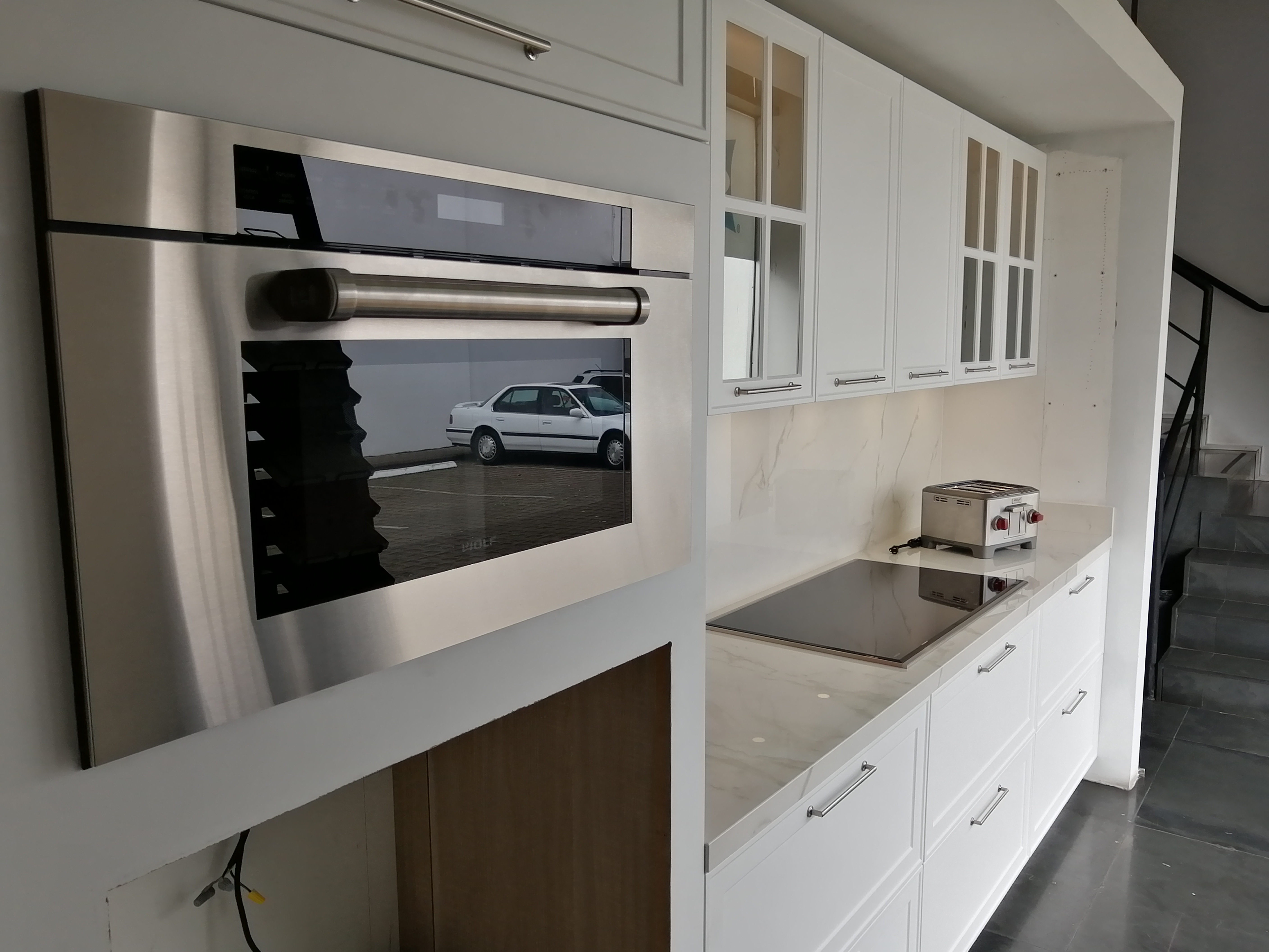 Wolf kitchen with oven and coffee machine